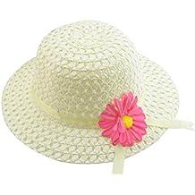 Hosaire Sombrero de Paja de Ala Ancha Verano Gorra Sombrero Anti UV Solar para Viaje Playa para Bebé Niñas Niños