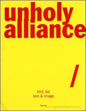 Unholy Allliance: NYC 94 Text and Image por Murphy