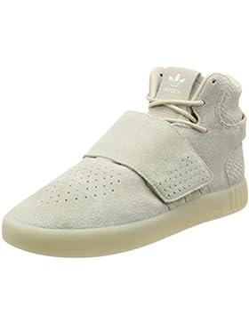 Adidas Sneaker TUBULAR INVADER STRAP BB5035 Beige Weiß, Brown/White, 41 1/3 EU