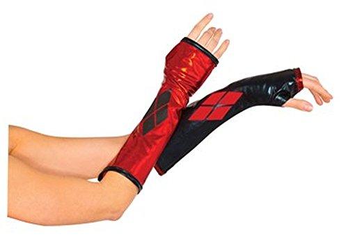 MyPartyShirt Harley Quinn Fingerless Glove Gauntlets