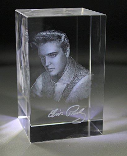 VIP-LASER XL Glasquader 3D Autogramm Elvis Presley - Ein muss für jeden Elvis Fan! (Fan Presley Elvis)