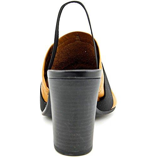 Bella Vita Sassari Large Cuir Sandales Tan-Black