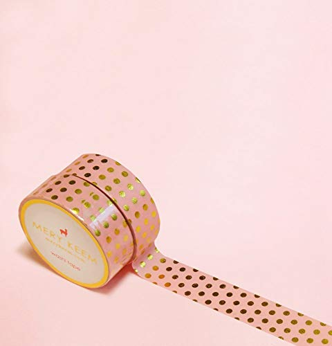 Hell Rosa Pastellfarben Polka Dots Gold Foil Washi Tape for Planning • Planer und Organizer • Scrapbooking • Deko • Office • Party Supplies • Gift Wrapping • Colorful Decorative • Masking Tapes • DIY - Das Perfekte Home Office
