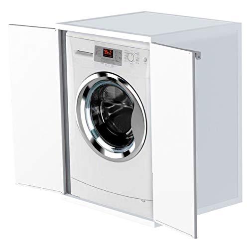 Adventa - Funda para Lavadora de Resina de PVC Interior/Exterior, Color Blanco, 68,5 x 64,5 x 88 cm...