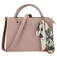 DAVIDJONES Women Totes Pink Leather Cross-Body Bag Medium