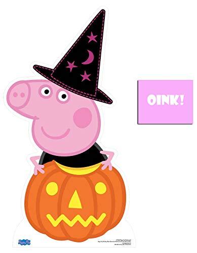 BundleZ-4-FanZ by Starstills Peppa Pig Halloween Thema Kürbis Lebensgrosse Pappaufsteller mit 25cm x 20cm ()