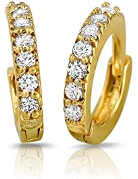 Mahi Gold Plated Immortal Beauty Earrings With Crystals For Women ER1102049GC