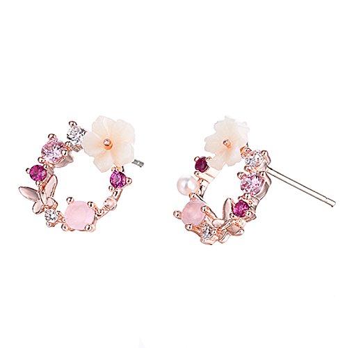 (AIUIN Garland Ohrringe Mädchen Frauen Form 1Paar Ohrstecker Silber Ohrringe mit einer Handtasche schöne Taste (Schmuck))