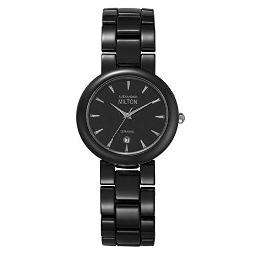 ALEXANDER MILTON - montre homme - TARVOS, noir/argente