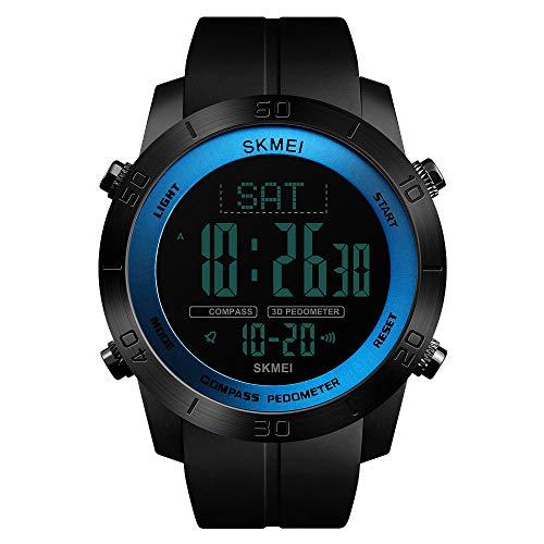 LBJ Herren Kompass Sportuhr Schrittzähler Kalorien Uhr Wasserdicht Digital Armbanduhr