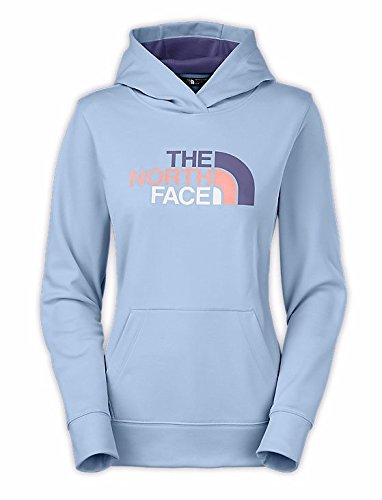 The North Face W Fave Half Dome Pullover Hoodie Powder Blue/Patriot Blue Multi S (Hoodie Dome)