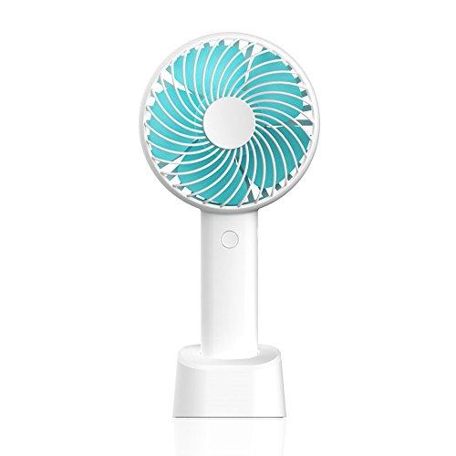 Mini Ventilator USB Tischventilator Leise Schreibtisch Ventilator mit Entfernbar Wiederaufladbare Basis Persönlich Ventilatoren für Reisen, Büro und Zuhause.