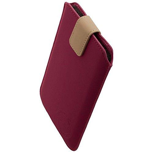 IPHORIA FUN Trendige Tasche Magenta Größe XXL5.7 mit Easy Pull-Out-Funktion & Magnetverschluss + Reinigungstuch iMoBi Vapor 4 Bumper Case