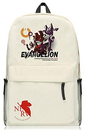 Ayanami Kostüm Rei - siawasey Anime EVA Neon Genesis Evangelion Cosplay Schultasche Daypack College Rucksack Schultasche beige 3