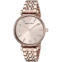 Emporio Armani Women's Analog Quartz Watch with Stainless-Steel Strap AR11059