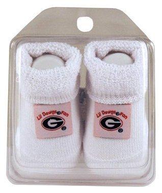 NCAA Georgia Bulldogs Infant Baby Booties