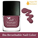 #7: Iba Halal Care Breathable Nail Color, B06 Plum Cake, 9ml