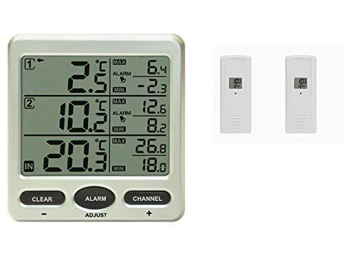 froggit Funk Thermometer FT0075 mit 2 AussensensorenLCD Display Min/max