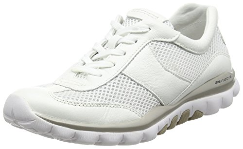 Gabor Helen Damen Sneaker Weiß (White Mesh/Leather)