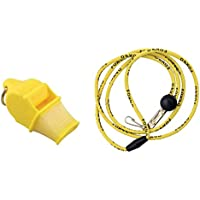 Tide Rider Fox 40 Sonic Blast CMG Whistle With Lanyard Referee Coach Dog, Yellow
