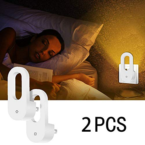 2 Pack Plug-In LED Nachtlicht Dusk to Dawn Wall Lampe Motion Sensor Bedside Lampe Automatik für Kinder Schlafzimmer Bad Küche Hallway Beleuchtung US/EU Plug