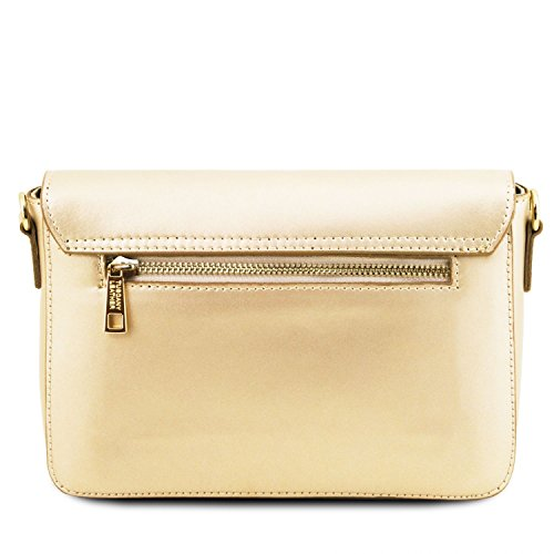 Tuscany Leather TL Bag Pochette in pelle metallic Rosa Oro
