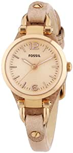 Fossil Damen-Armbanduhr Analog Quarz Leder ES3262