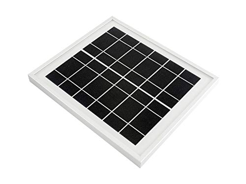 Waveshare Solar Panel 6V 5W 156 Monocrystalline Cell Toughened Glass Surface for Use with Solar Power Manager -