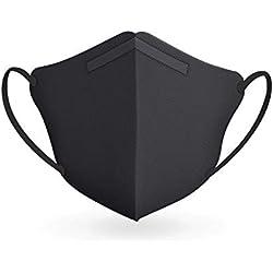 RESPILON RespiPro® Cubrebocas de Carbon Negro con Membrana Filtrante de Nanofibras Con Grado Medico para Profesionales | Previene Inhalación de Bacteria, Virus, Alérgenos, Gases, Olores y Vapores (L)