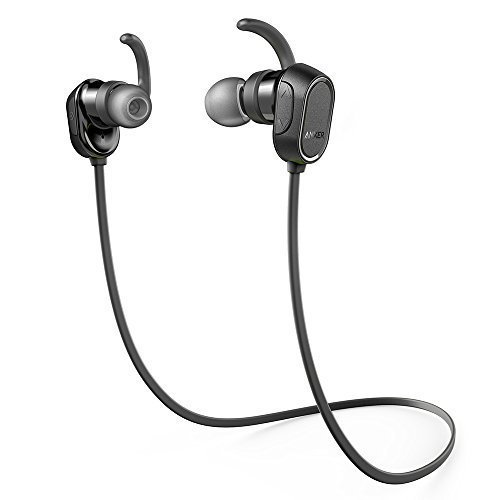 Bluetooth Headphones, Anker Wireless Headphones with Magnetic Earbuds, Secure Fit for Sport, Running, Gym with Built-in Mic, Noise Cancellation, and IPX4 Sweatproof