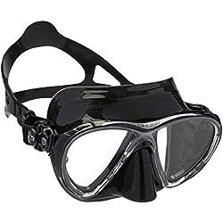 Cressi - Masque de plongée Sous Marine pour Adulte - Big Eyes Evolution - Noir (Noir) - Taille Unique