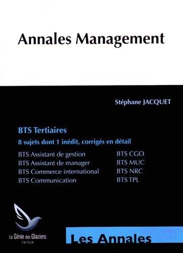 Annales Management BTS Tertiaires