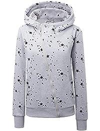 303ba1f1d574 Ehpow Damen Kapuzenpullover Zipper Hoodies Sweatshirt Oberteil Pullover
