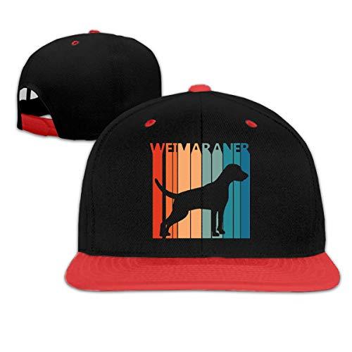 Funny Cute Weimaraner Unisex Adult 100% Cotton Adjustable Hip-hop Baseball Cap Plain Hat White Weimaraner-baseball-cap