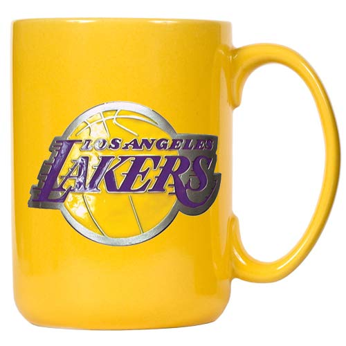 Los Angeles LAKERS Offizielle NFL Tasse, Becher mit Metall-Logo 400 ml - Angeles-becher Los