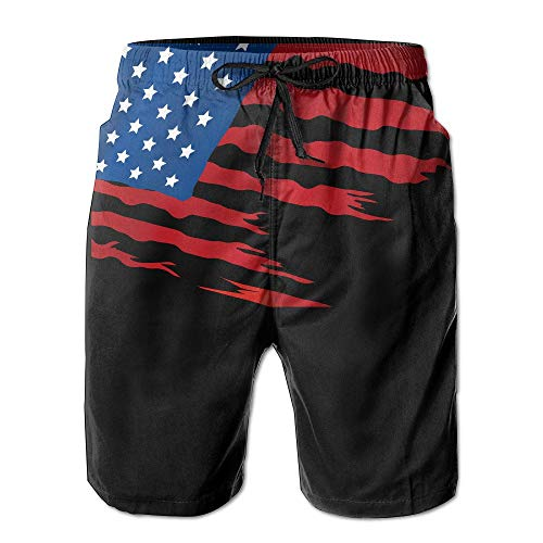 Cherokee Floral Uniform (cleaer American Flag Newest Men's Workout&Swim Trunks Quick Dry Beach Board Shorts Large)