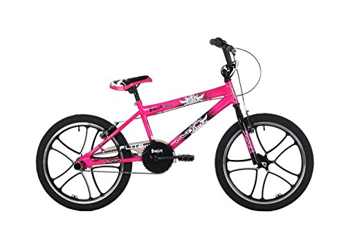 Flite FL071B Kid's Mag Panic BMX Bike, 11 inch Frame/20 inch Wheels - Pink Best Price and Cheapest