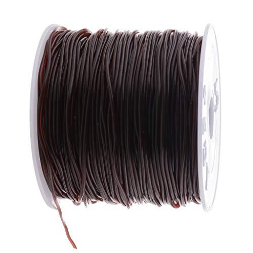 stische Stretch Threads Elastische Schnur Perlenschnur Perle String Schmuck Faden Nylonschnur für Armband Halskette - Kaffee braun, 44 mm ()