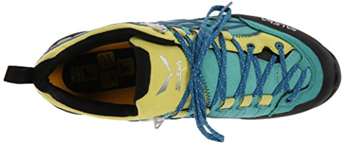 Salewa Ws Wildfire Pro, Chaussures de Sport Femme Azul   (Bright Acqua / Reef 3524)