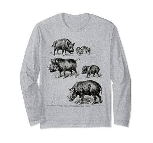 Boar Hunter wild Pig Hunting Designs Boar Vintage Langarmshirt