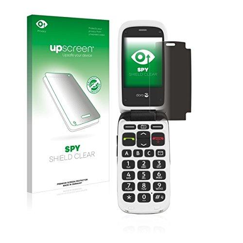 upscreen Spy Shield Clear Blickschutzfolie / Privacy für Doro PhoneEasy 612 (Sichtschutz ab 30°, Kratzschutz, selbstklebend)