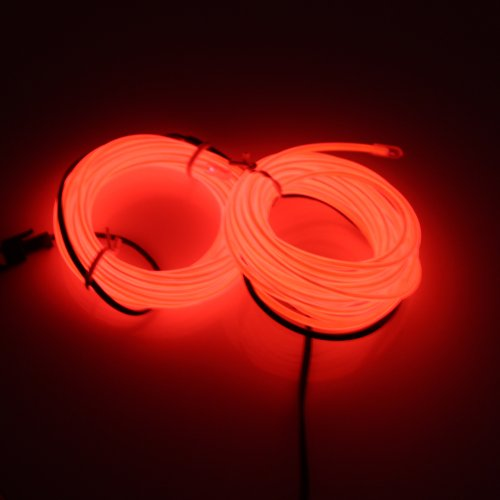 Lerway 5M Bunte Luminous EL Wire Elektrolumineszenzdraht EL Neon Kabel LED-Licht Glowing Beleuchtung Flexible Lampe für Schlafzimmer-Dekoration Home Kitchen Garden, Kaffee Restaurant, Party Bar Club (Kit El Draht Kostüm)