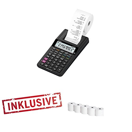 Casio HR-8TEC Tischrechner druckend inkl. 5 Papierrollen