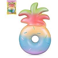 "VLAMPO Squishy Stress Giocattoli Squishies Soft Slow Rising Profumo Ananas Donut 6.1 ""1 pezzo (arcobaleno)"