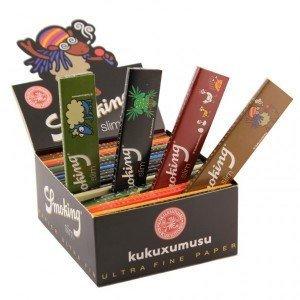 50 Stk. Smoking 'kukuxumusu' - Slim Size - 33 Blättchen - Papers
