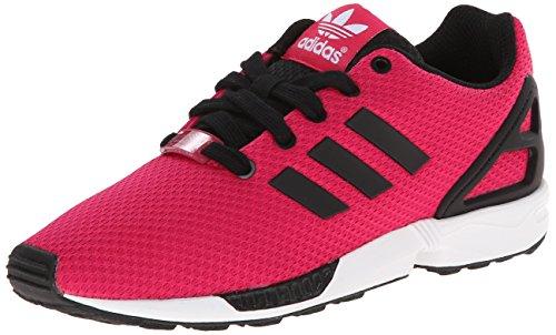 adidas Originals ZX Flux K Running Shoe (Little Kid/Big Kid), Pink/Black/White, 6.5 M US Big Kid