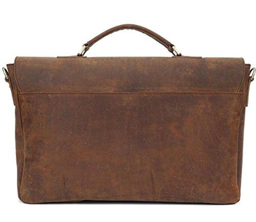 Great Strange Lederhandtasche / Mannschulterbeutel, Kuriertasche / Retro- Aktenkoffer, Einkaufen / Spielraum / Arbeit , brown brown