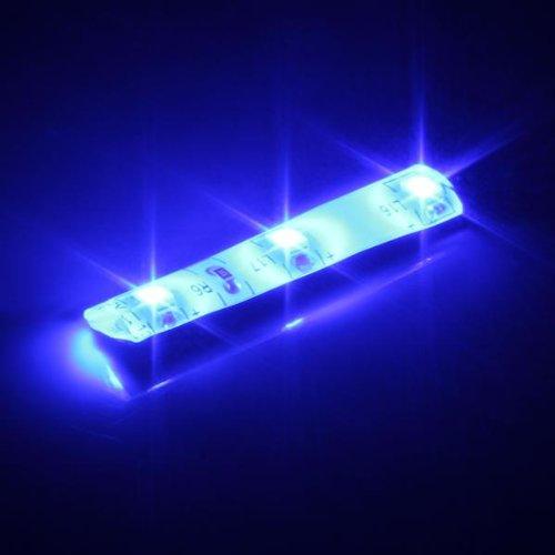 Ecloud Shop 2x KFZ 3 3528 SMD LED Blau Strip Leiste Streif Wasserfest Auto Dekor 12V
