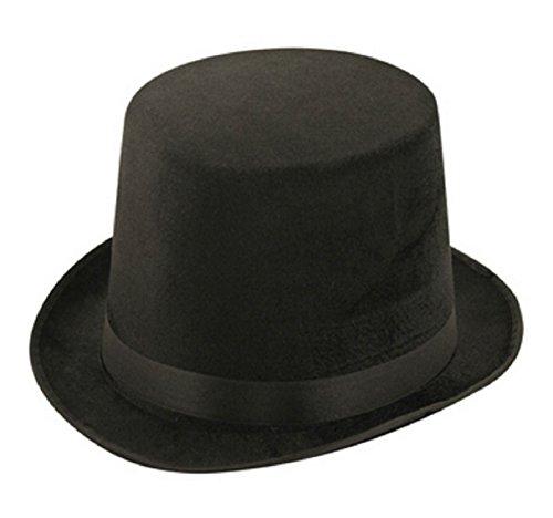 ns schwarz Lincoln Velour Hut Erwachsenen Magier Ringmaster Kost�m Zubeh�r Einheitsgr��e (Ringmaster Kostüme Erwachsene)