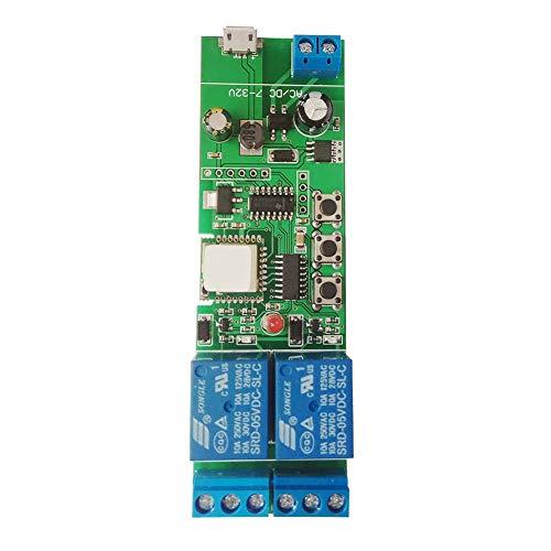 EACHEN WiFi Inlay inal/ámbrico Rel/é Moment/áneo//Autoblocante Interruptor Inteligente DIY Hogar inteligente Gadget DC 5-32V Entrada Aplicaci/ón Ewelink Compatible con Alexa Google Nest IFTTT ST-DC1